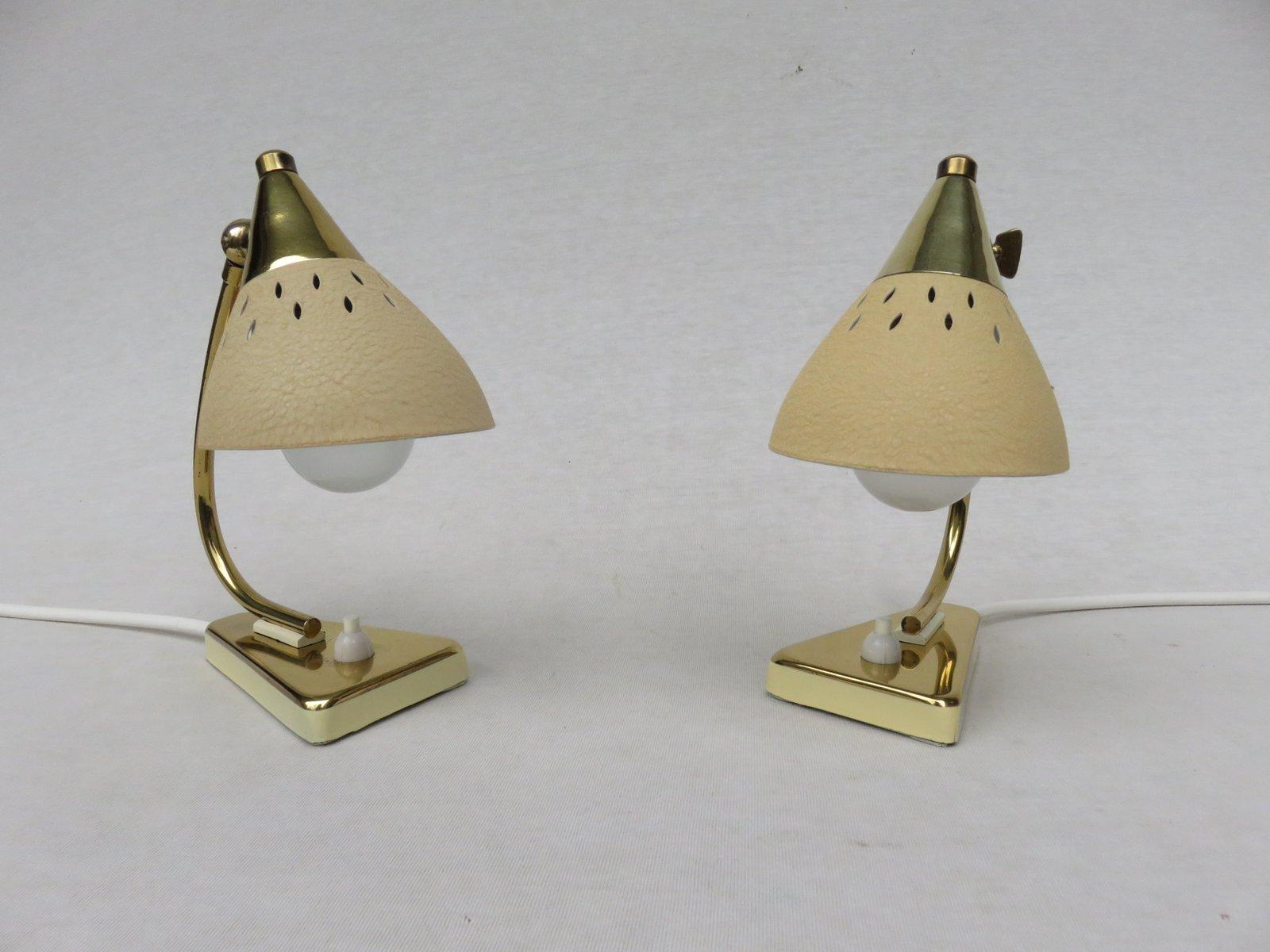 italienische vintage nachttischlampen 1950er 2er set - Nachttischlampen