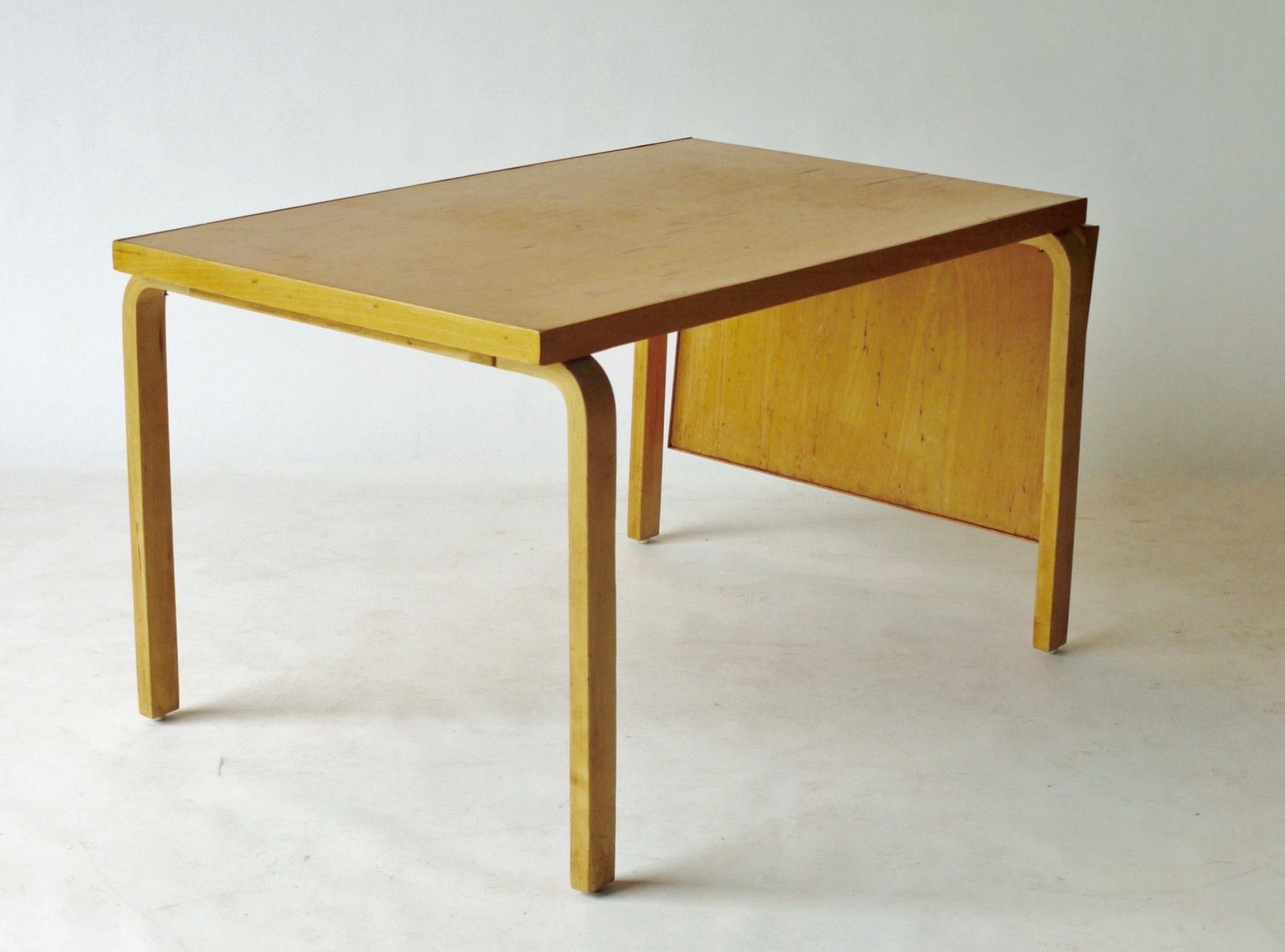 Drop Leaf Extendable Dining Table by Alvar Aalto for Artek, 1940s ...