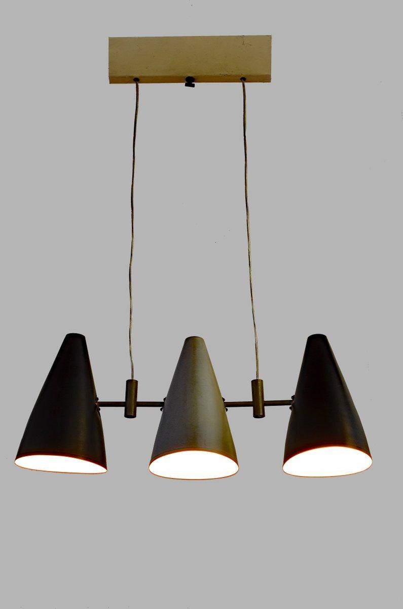 Italienische h ngelampen mit drei leuchten 1950er bei for Italienische leuchten