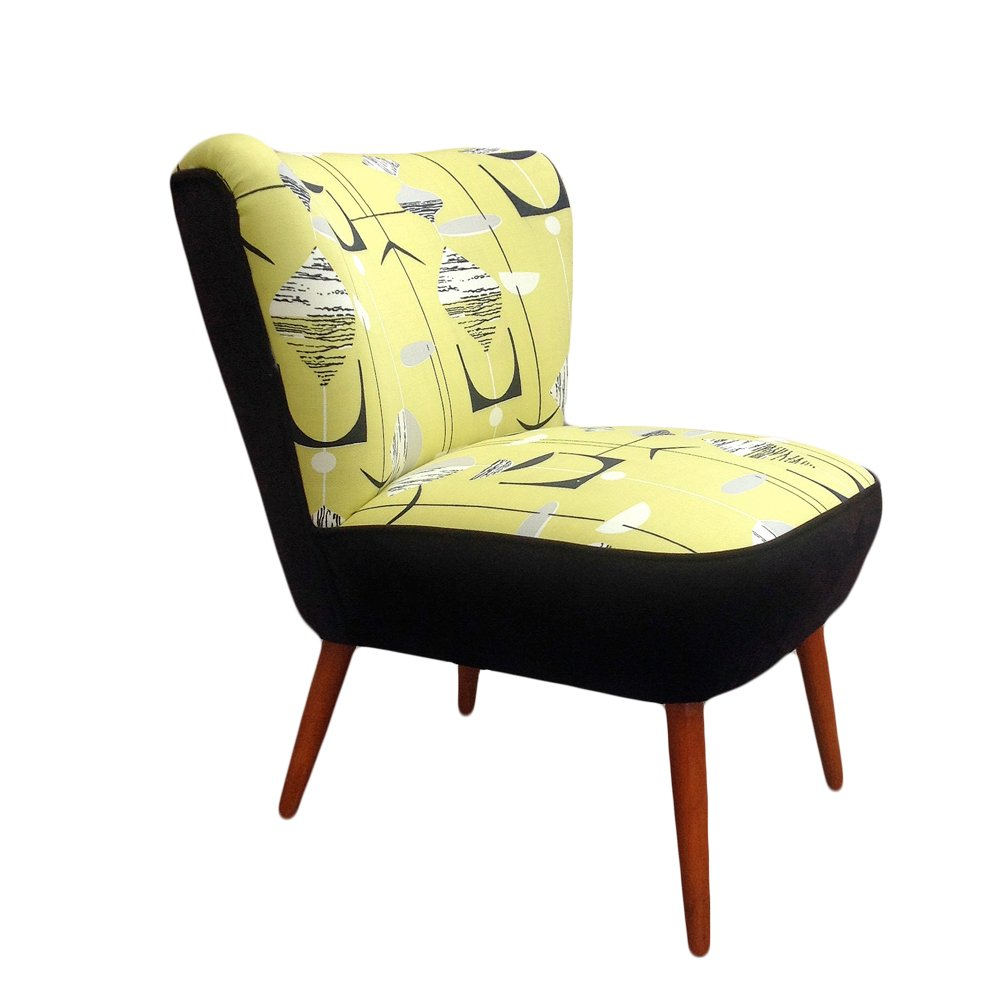 Club Armchair With Sanderson Upholstery 1950s For Sale At