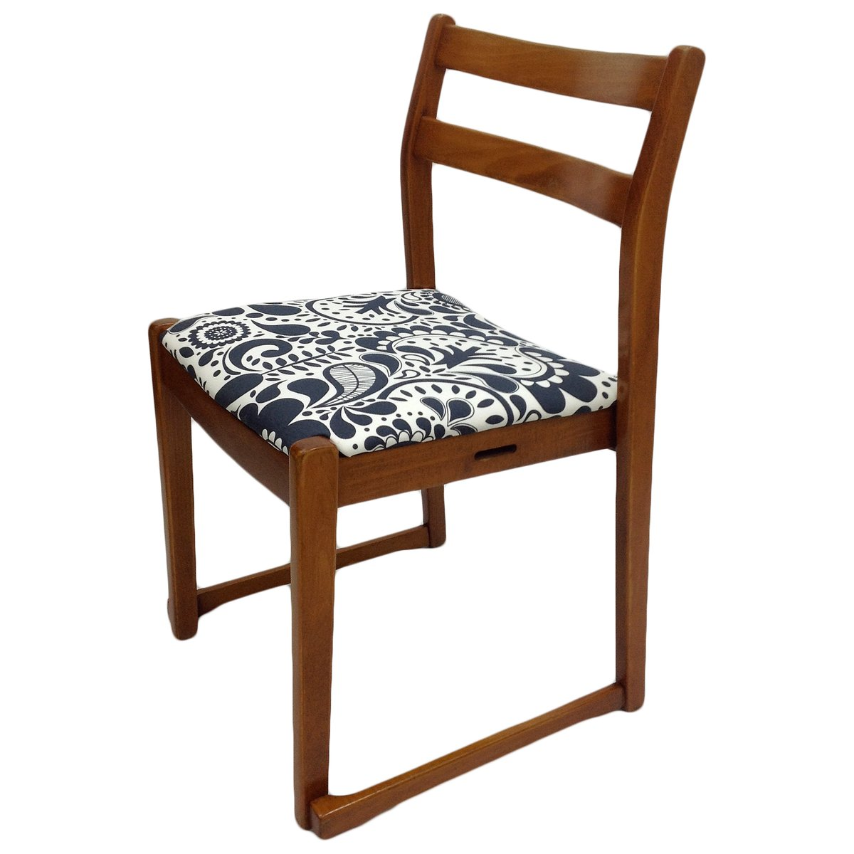 Vintage patterned teak side chair for sale at pamono for Side chairs for sale