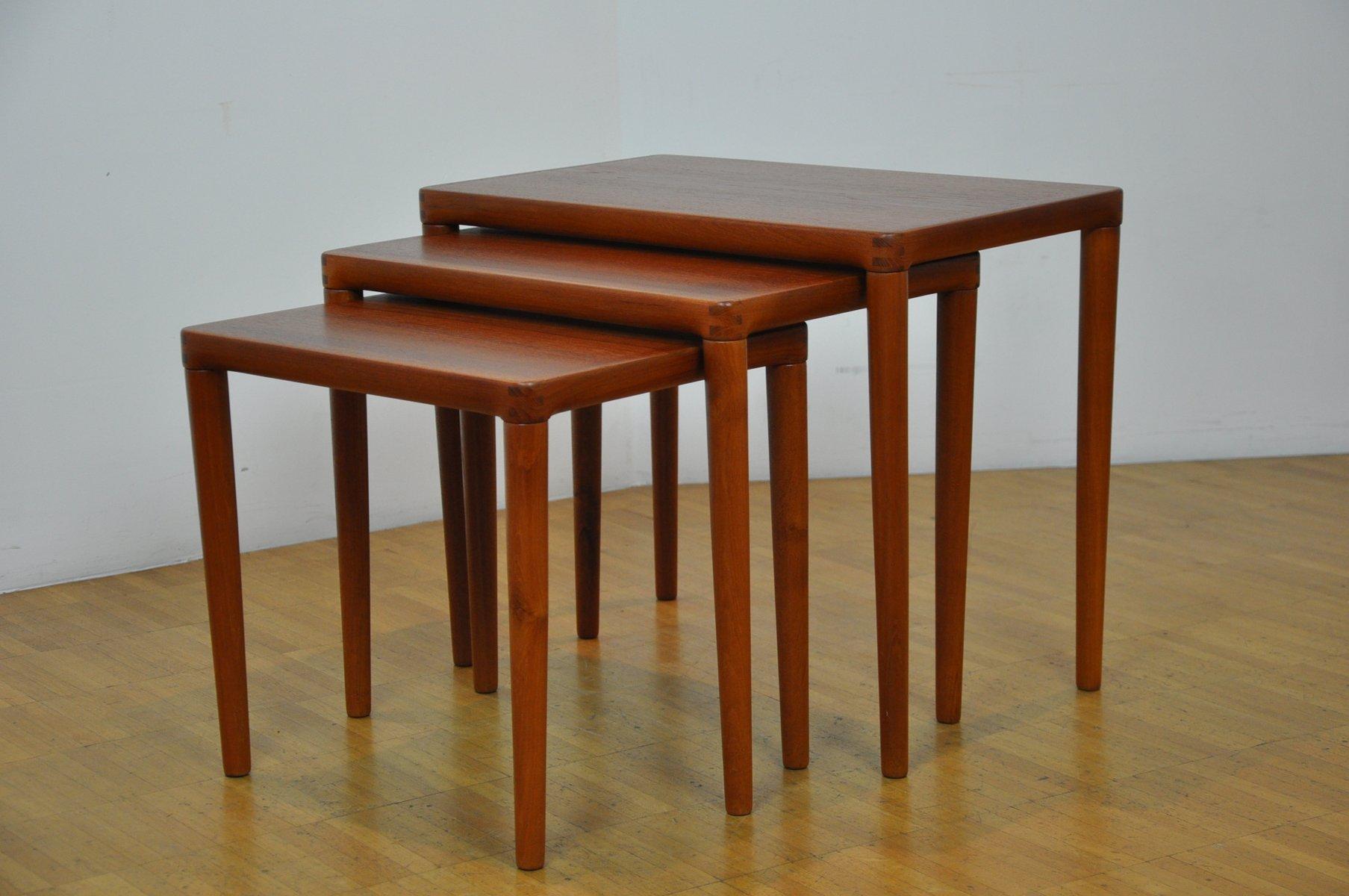 Danish Nesting Tables By Hw Klein For Bramin 1960s For Sale At Pamono Danish  Nesting Tables ...