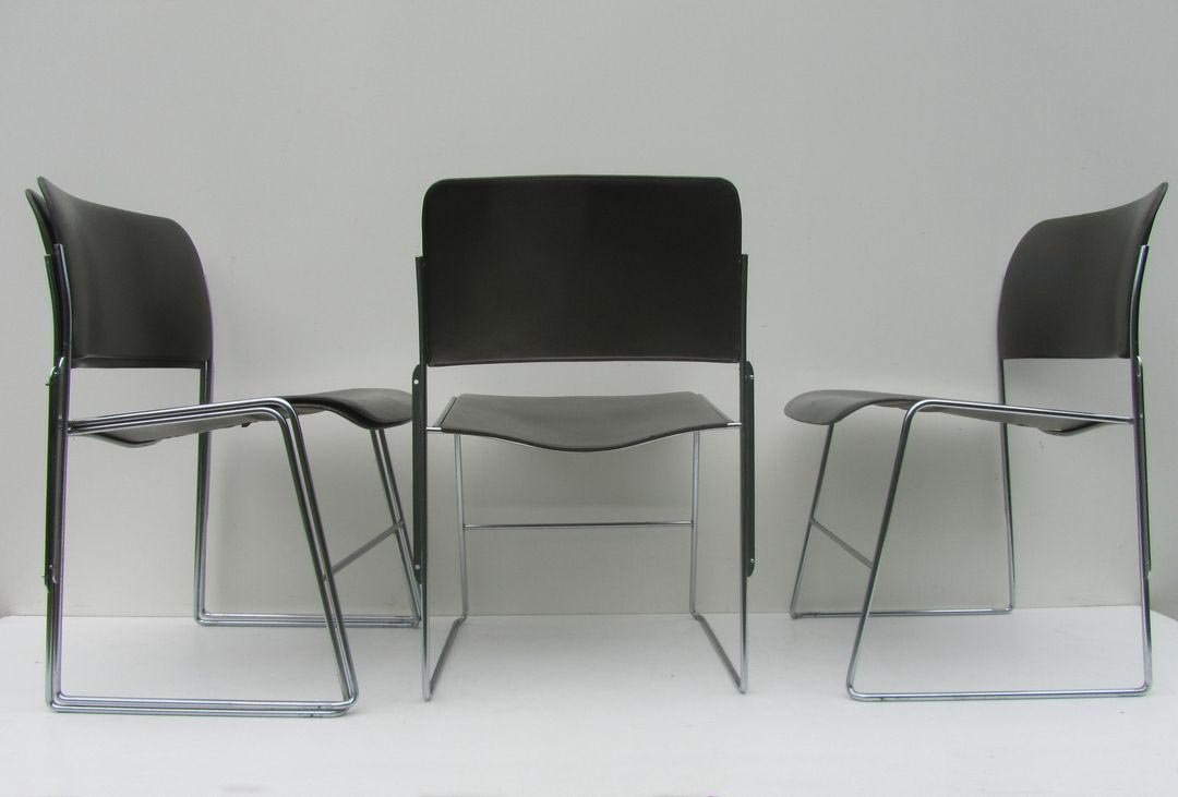 Vintage 40 4 Chair By David Rowland For Howe 1964