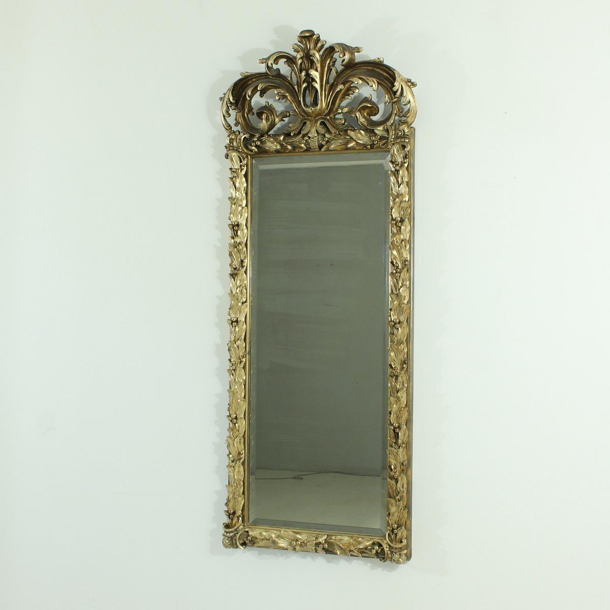 Specchio Da Parete Antico In Vendita Su Pamono