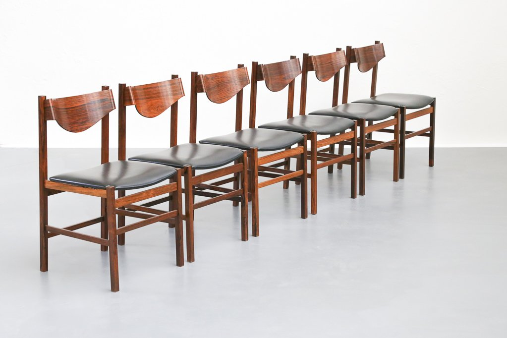 Vintage Italian Dining Chairs 1960s Set Of 6
