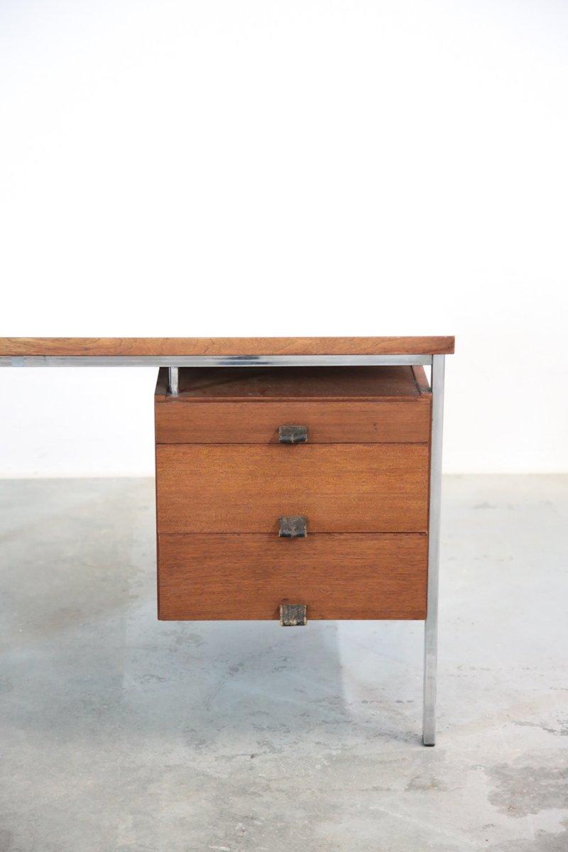 vintage teak chrom schreibtisch 1960er bei pamono kaufen. Black Bedroom Furniture Sets. Home Design Ideas