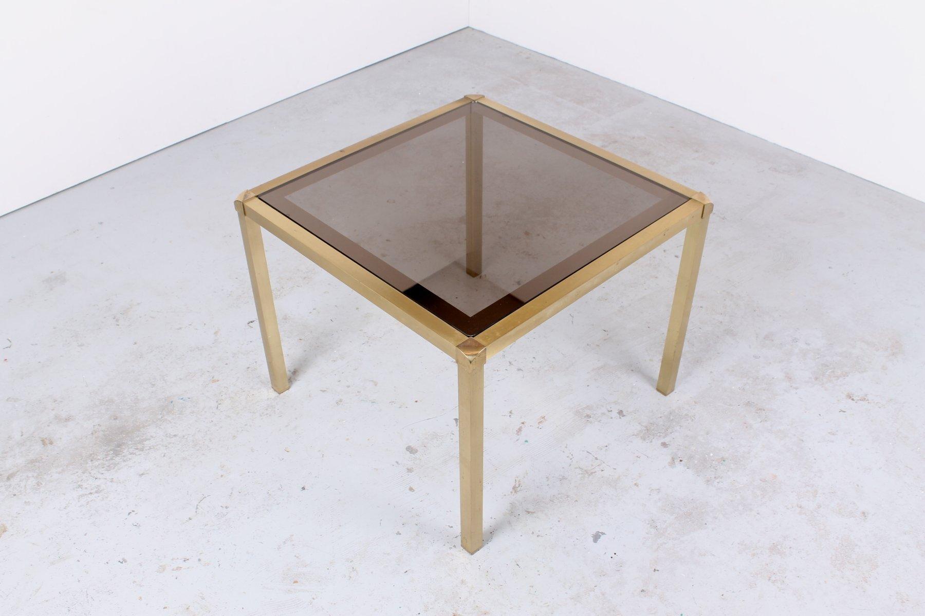 beistelltisch aus messing und glas im hollywood regency stil bei pamono kaufen. Black Bedroom Furniture Sets. Home Design Ideas