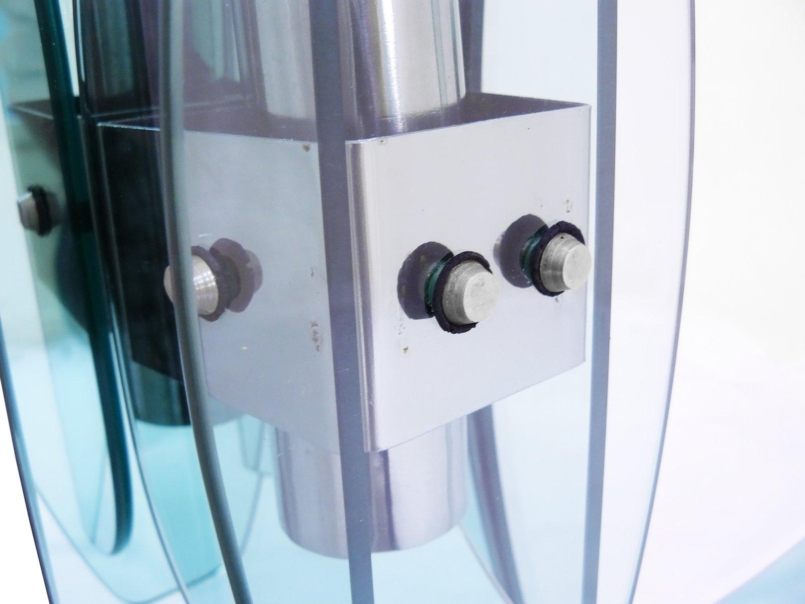 italienischer badezimmerspiegel mit lampen von mazzega 1970er bei pamono kaufen. Black Bedroom Furniture Sets. Home Design Ideas