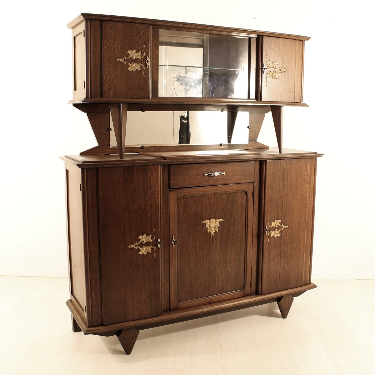 french art nouveau buffet 1920s for sale at pamono. Black Bedroom Furniture Sets. Home Design Ideas