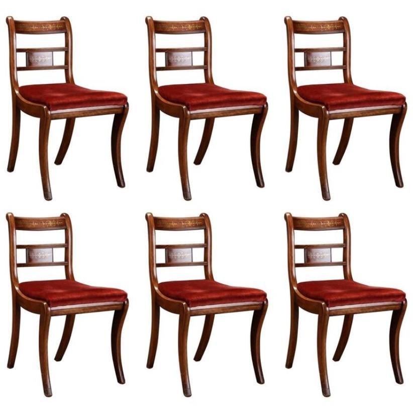 englische palisander mahagoni st hle 6er set bei pamono. Black Bedroom Furniture Sets. Home Design Ideas