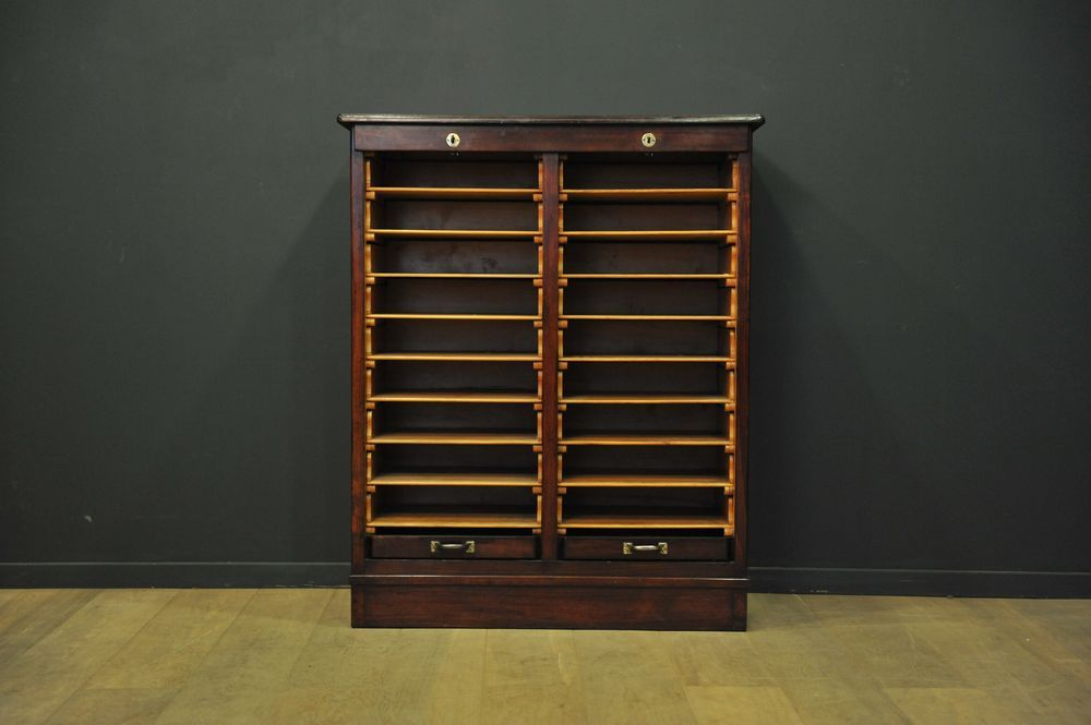 edwardianischer schrank mit doppelter rollt r 1905 bei pamono kaufen. Black Bedroom Furniture Sets. Home Design Ideas