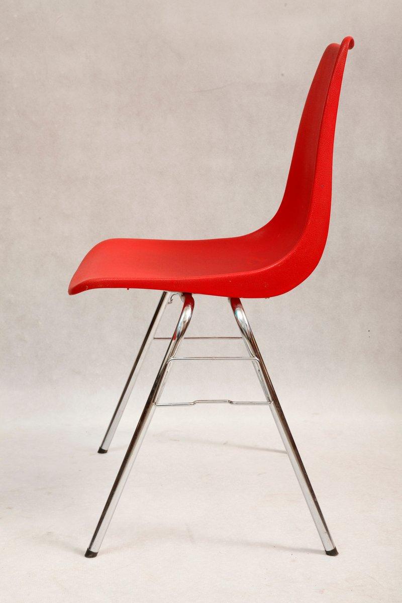 roter stuhl von casala 1970er bei pamono kaufen. Black Bedroom Furniture Sets. Home Design Ideas