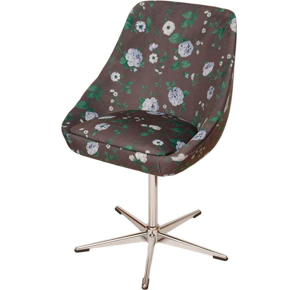 vintage drehstuhl mit blumenmuster stoff bei pamono kaufen. Black Bedroom Furniture Sets. Home Design Ideas
