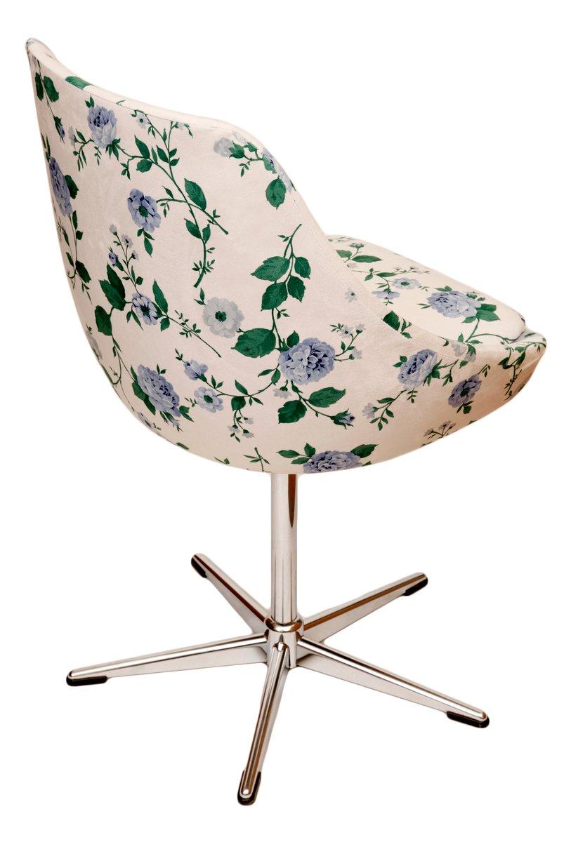 Chaise pivotante vintage blanche en vente sur pamono for Chaise pivotante