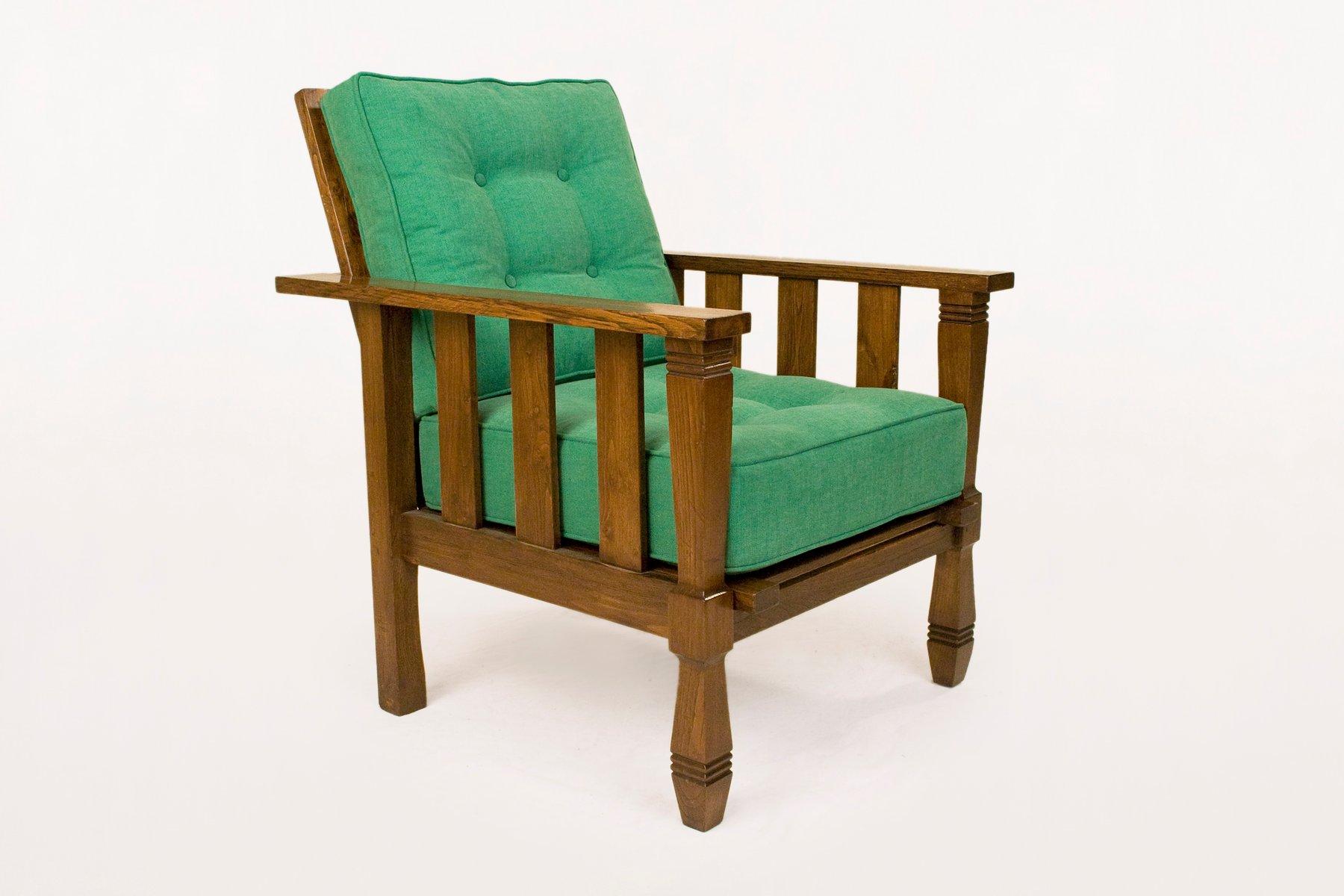 gr ne vintage sessel aus holz von william morris 1920er 2er set bei pamono kaufen. Black Bedroom Furniture Sets. Home Design Ideas