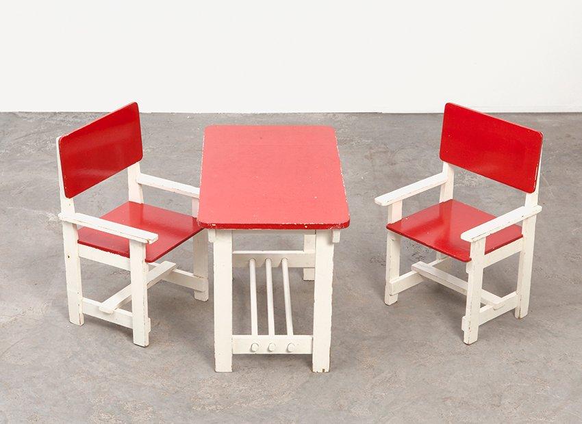 vintage holz kindertisch st hle bei pamono kaufen. Black Bedroom Furniture Sets. Home Design Ideas