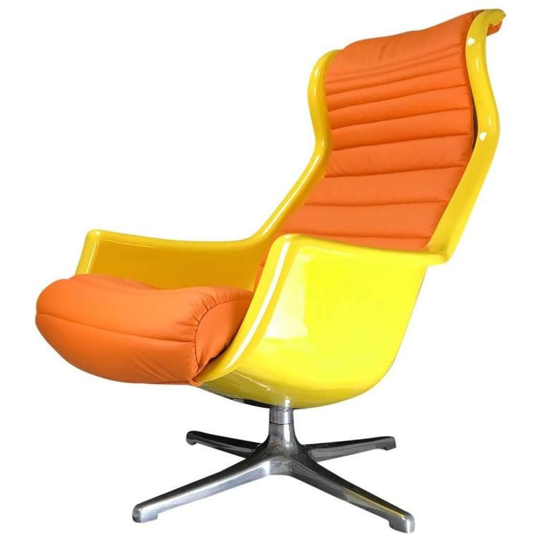 Galaxy Swivel Chair By Alf Svensson And Yngve Sandström For DUX, 1970s For  Sale At Pamono