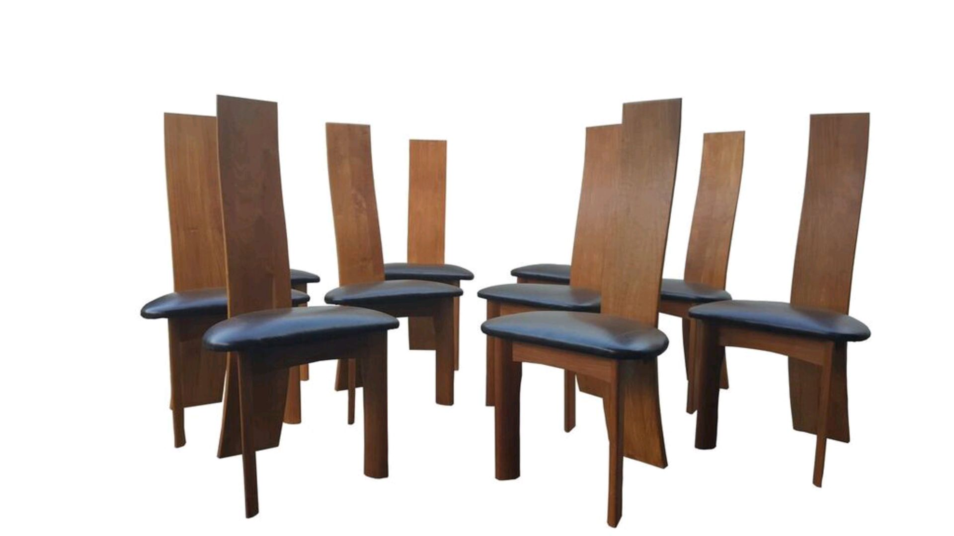 Danish modern dining chairs by bob og dries van den bergh for Modern dining chairs ireland