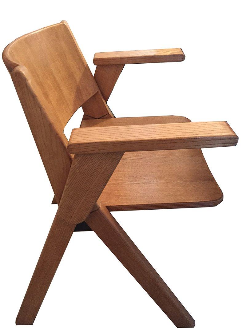 italienische vintage holzst hle 1970er 2er set bei pamono kaufen. Black Bedroom Furniture Sets. Home Design Ideas