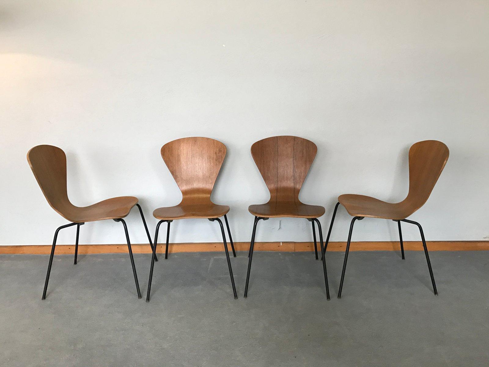 Jacobsen Stühle modell 3204 stühle arne jacobsen für fritz hansen 4er set bei pamono kaufen