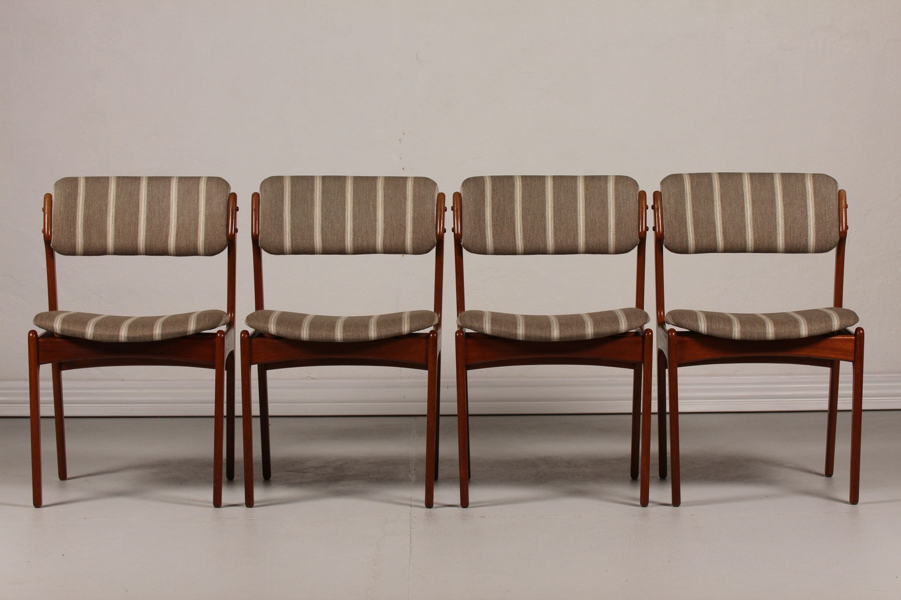 mid century od 49 teak dining chairs by erik buch for oddense