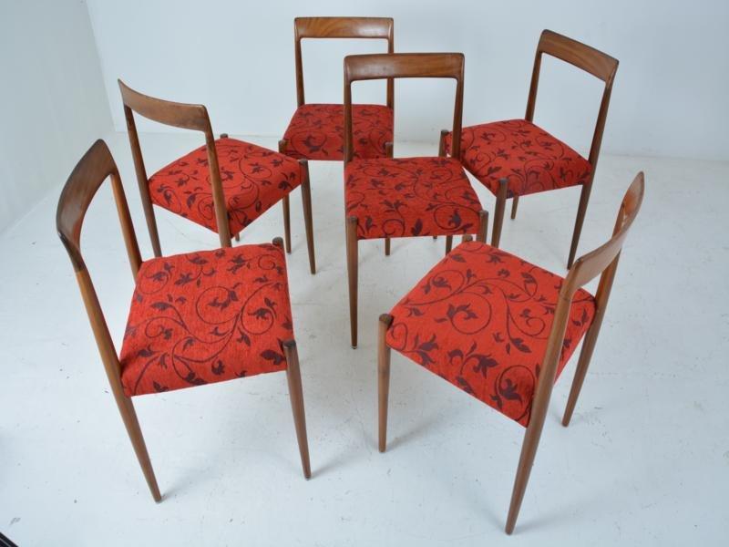 rote vintage esszimmerst hle 6er set bei pamono kaufen