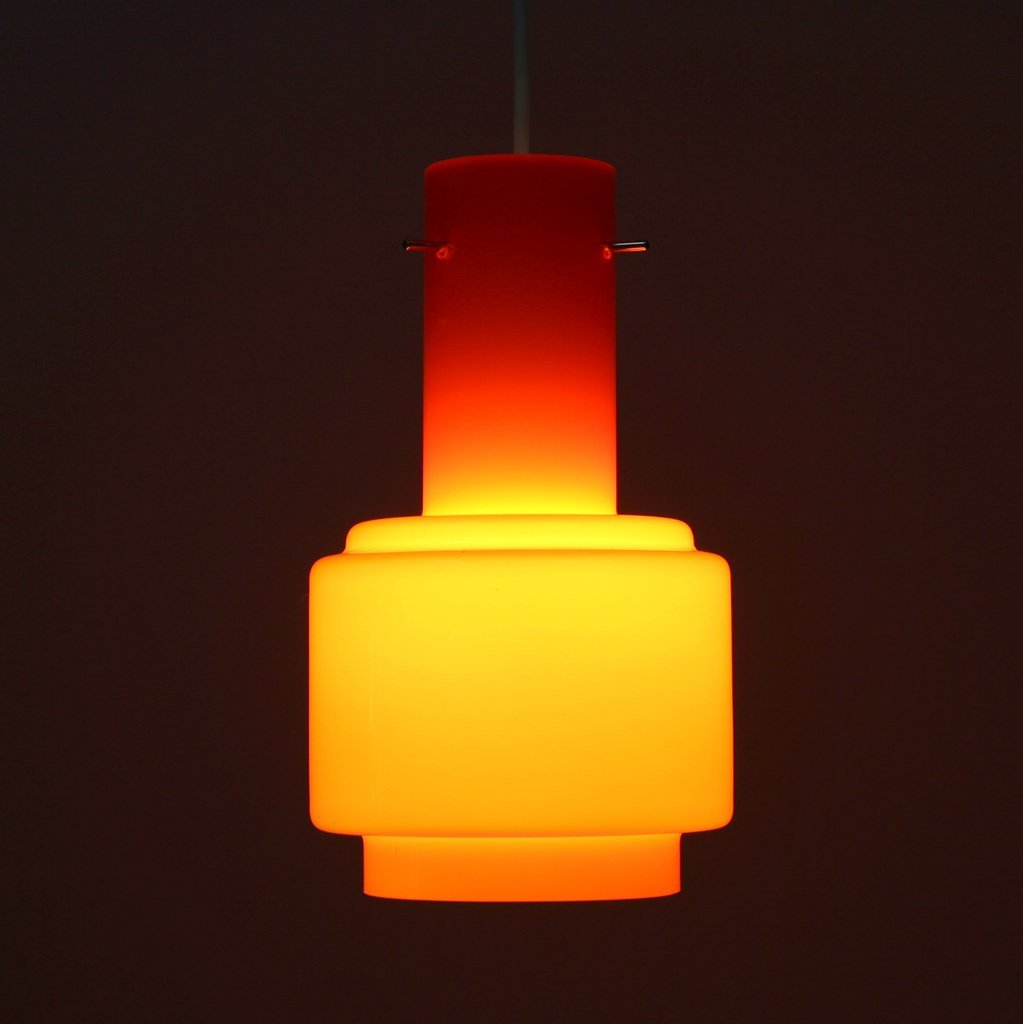 vintage orange opaline glass ceiling light for sale at pamono