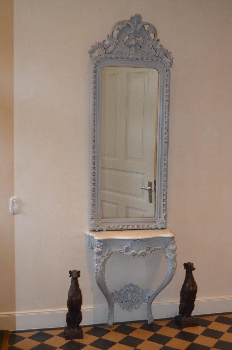 Rokoko spiegel mit konsolentisch bei pamono kaufen - Konsolentisch mit spiegel ...