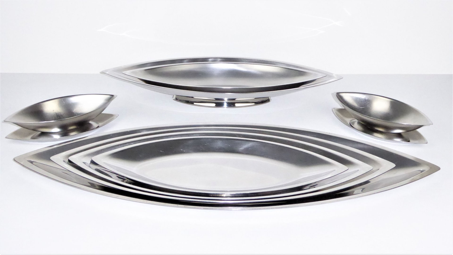 Cosmos Stainless Steel Dishes by Guy Degrenne 1970s Set of 10  sc 1 st  Pamono & Cosmos Stainless Steel Dishes by Guy Degrenne 1970s Set of 10 for ...