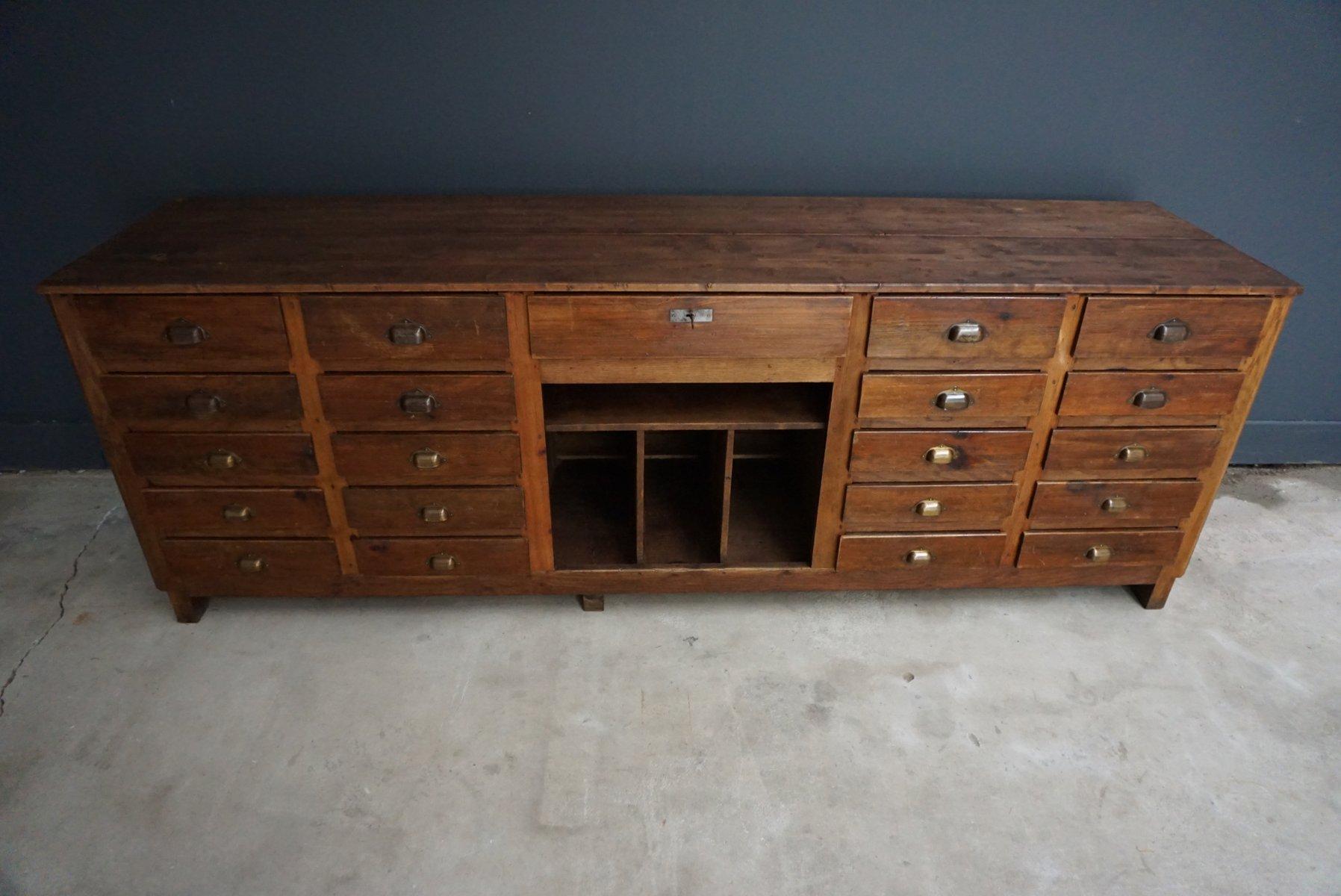 meuble d 39 apothicaire en pin france 1950s en vente sur pamono. Black Bedroom Furniture Sets. Home Design Ideas