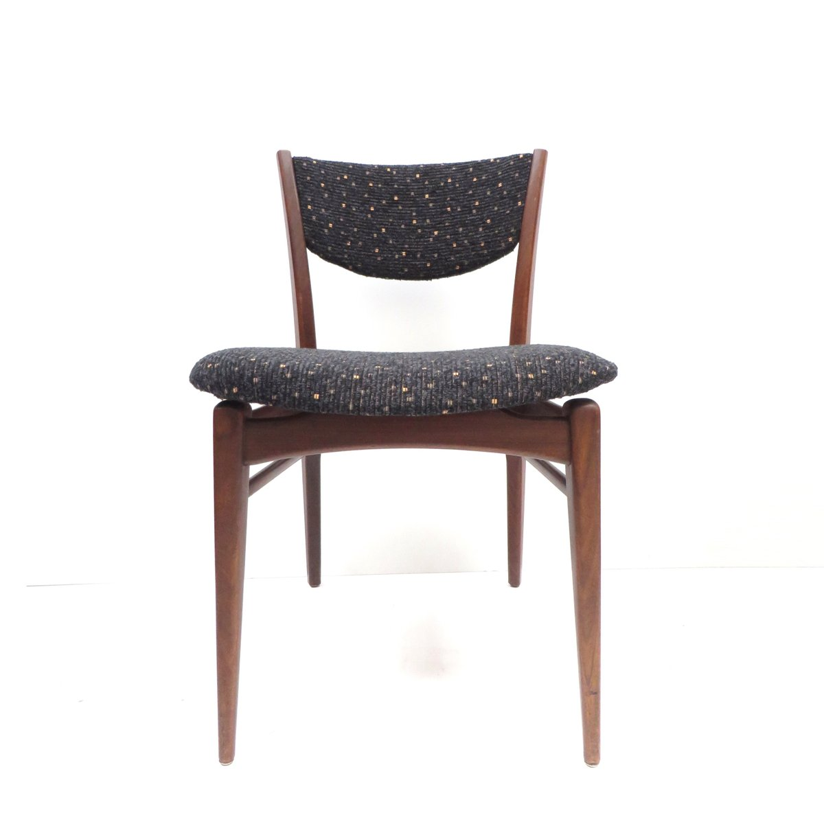 Vintage Teak and Fabric Dining Chairs, Set of 2 for sale at Pamono
