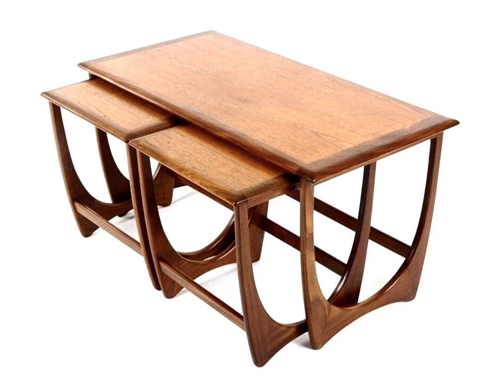 Mid Century Teak And Mahogany Nesting Tables From G Plan, 1960s