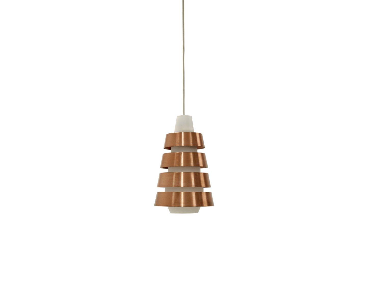mid century kupfer und opalglas deckenlampe 1960er bei pamono kaufen. Black Bedroom Furniture Sets. Home Design Ideas