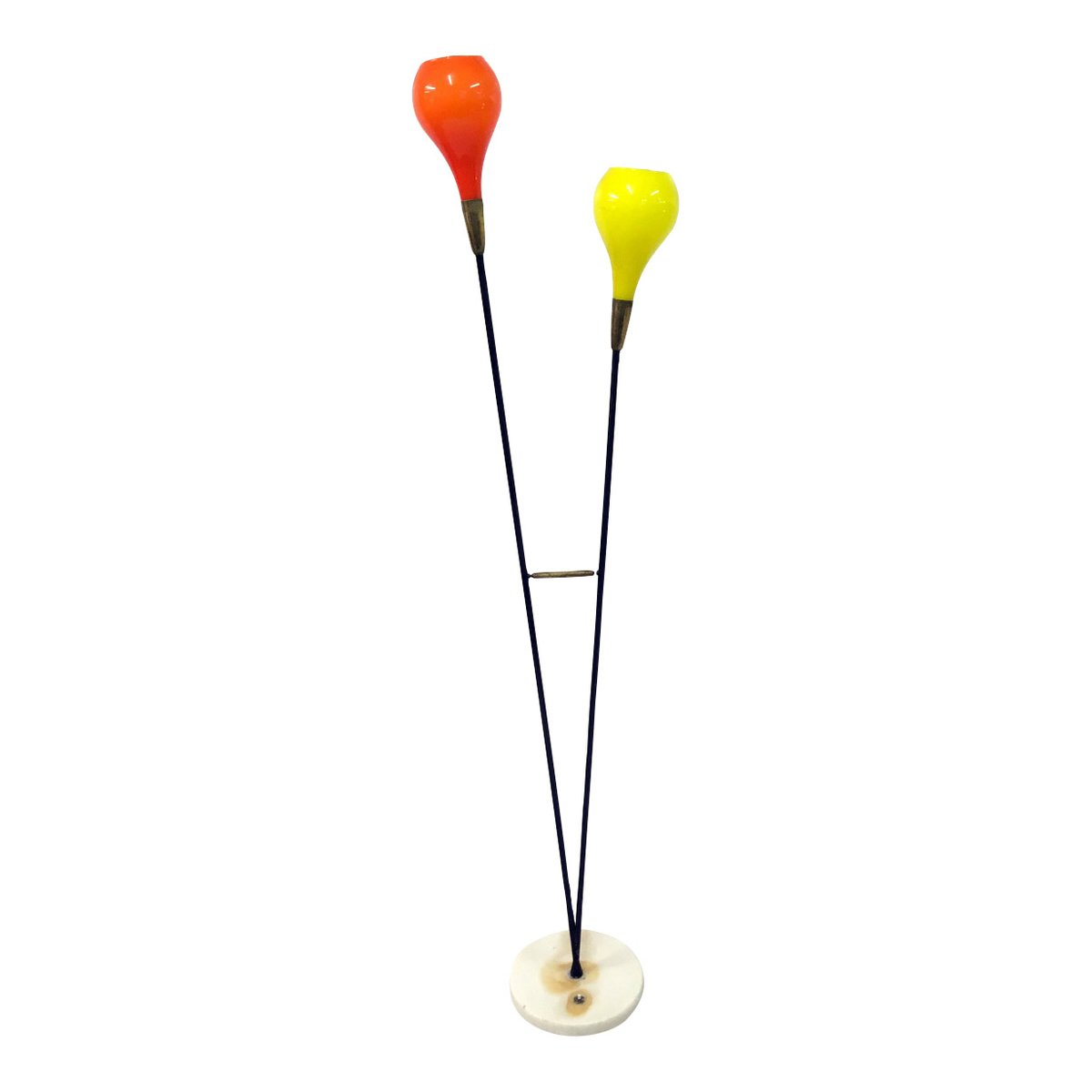 Vintage italian colored glass floor lamp for sale at pamono for Floor lamp glass stem