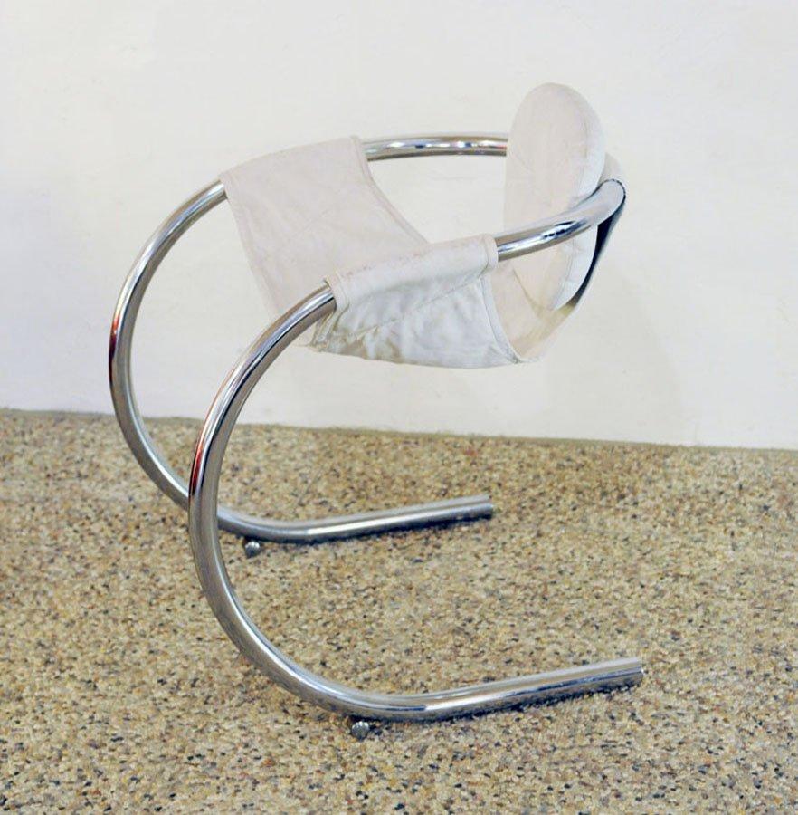 italienische vintage rohrstahl und wei e leder st hle von t70 2er set bei pamono kaufen. Black Bedroom Furniture Sets. Home Design Ideas