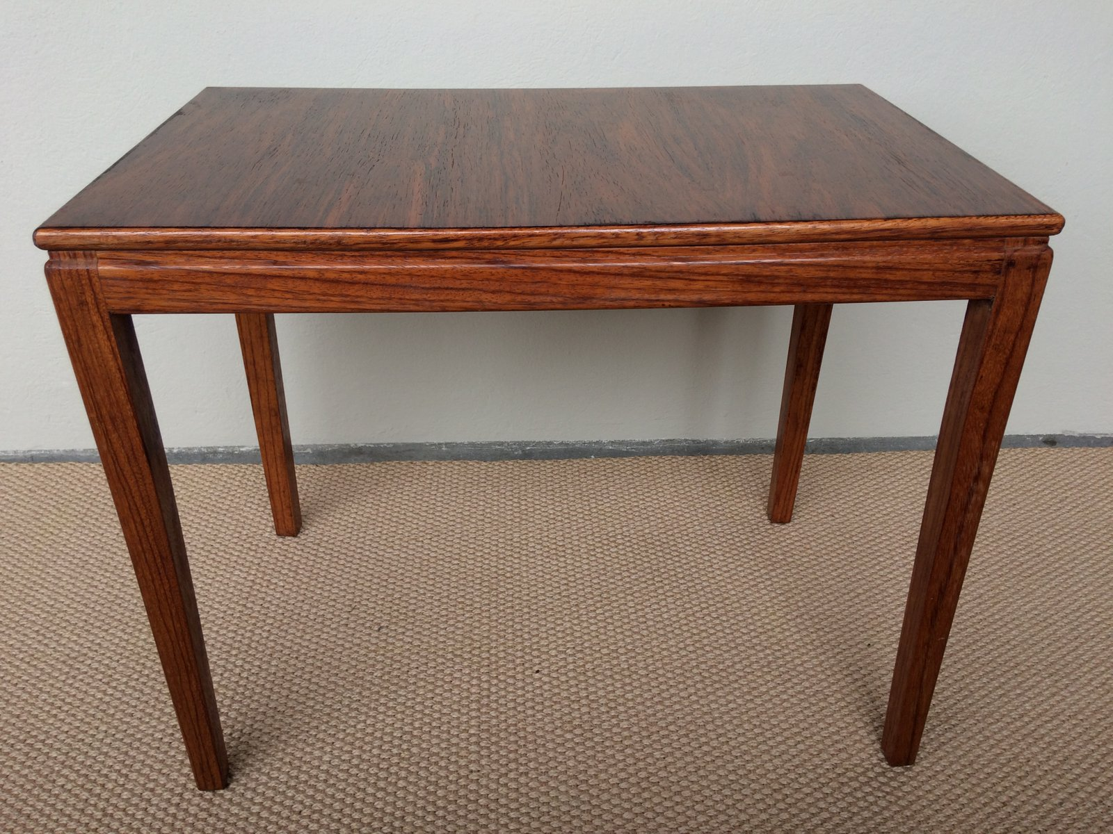 Mid Century Rosewood Side Table From CFC Silkeborg