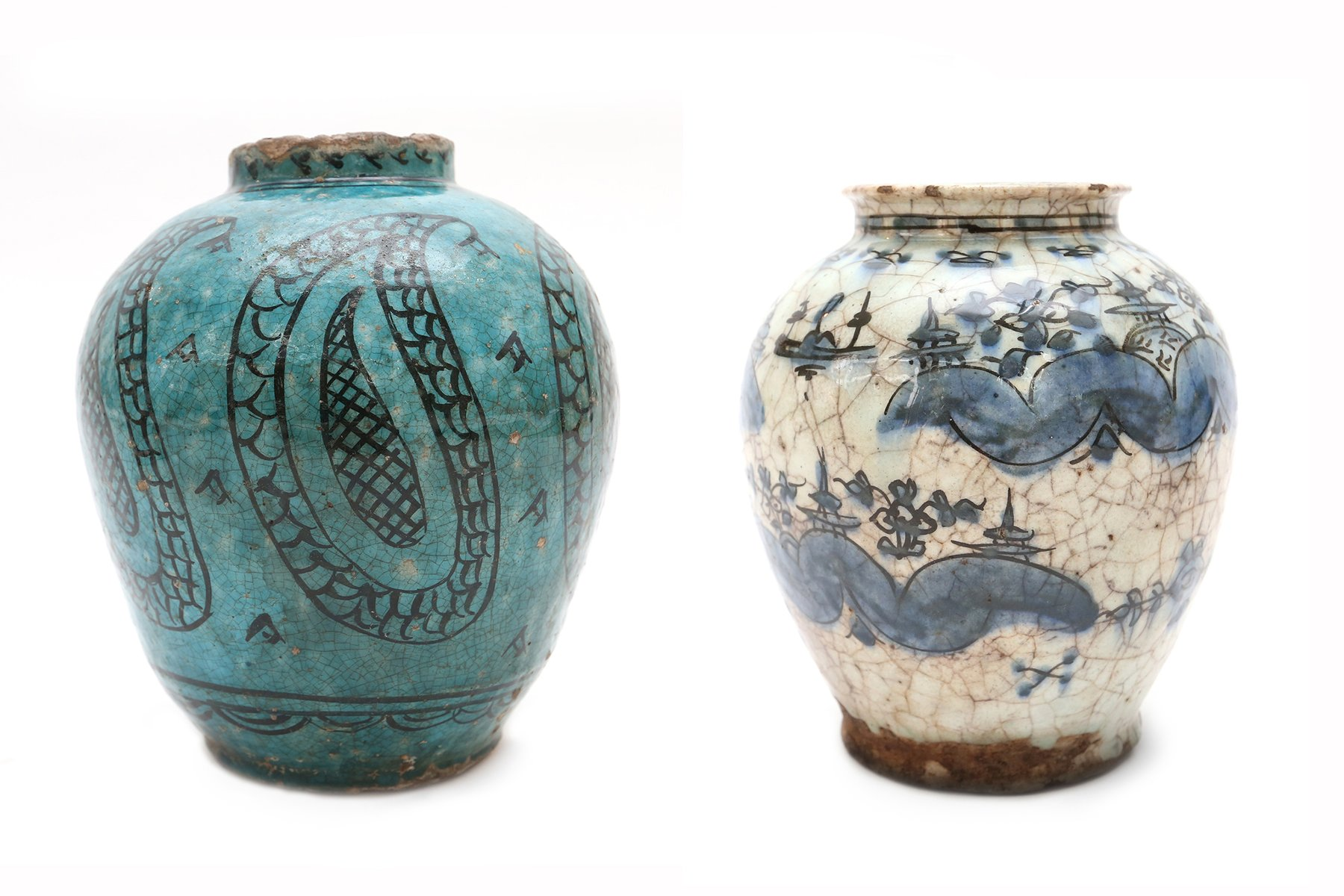 Antique persian style ceramic vases set of 2 for sale at pamono reviewsmspy