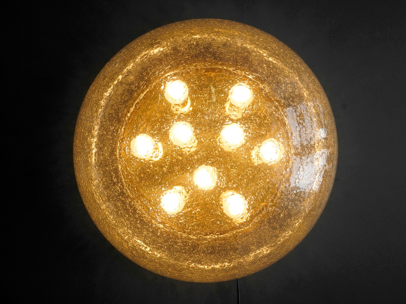 Xxl Mushroom Ceiling Light With Brass Base For Sale At Pamono
