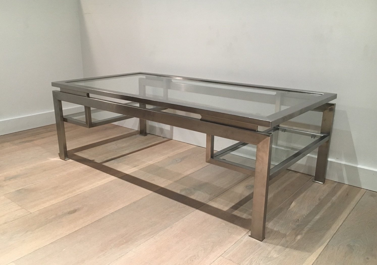 Modernist Brushed Metal Coffee Table By Guy Lefèvre 3 Previous