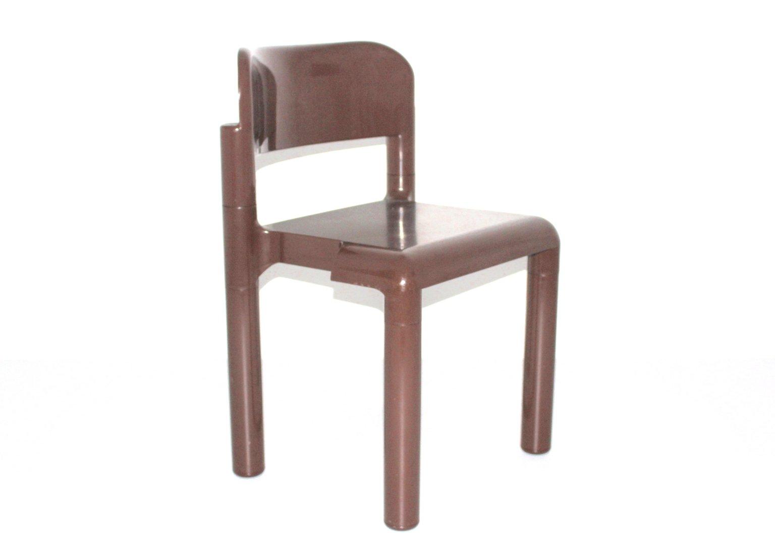brauner stuhl aus plastik von eerio aarnio f r upo. Black Bedroom Furniture Sets. Home Design Ideas