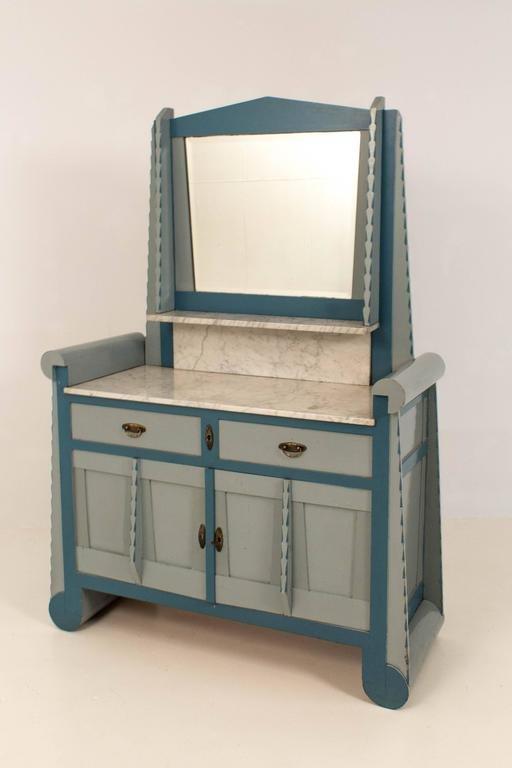 amsterdamer schule frisiertisch mit spiegel bei pamono kaufen. Black Bedroom Furniture Sets. Home Design Ideas