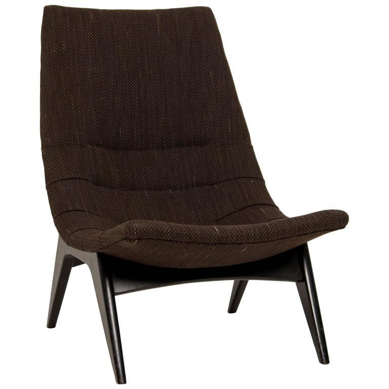 brauner mid century stuhl bei pamono kaufen. Black Bedroom Furniture Sets. Home Design Ideas