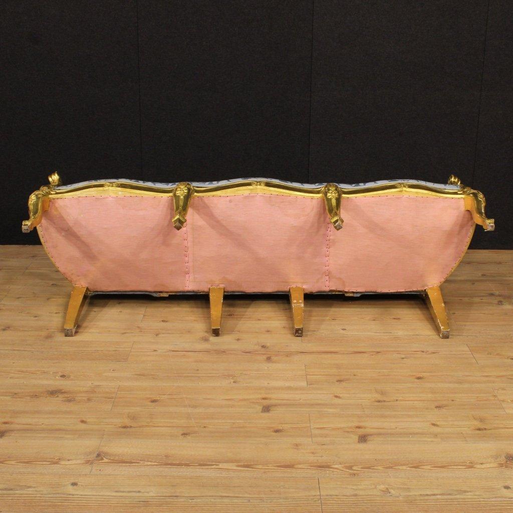 goldenes italienisches vintage sofa 1950er bei pamono kaufen. Black Bedroom Furniture Sets. Home Design Ideas