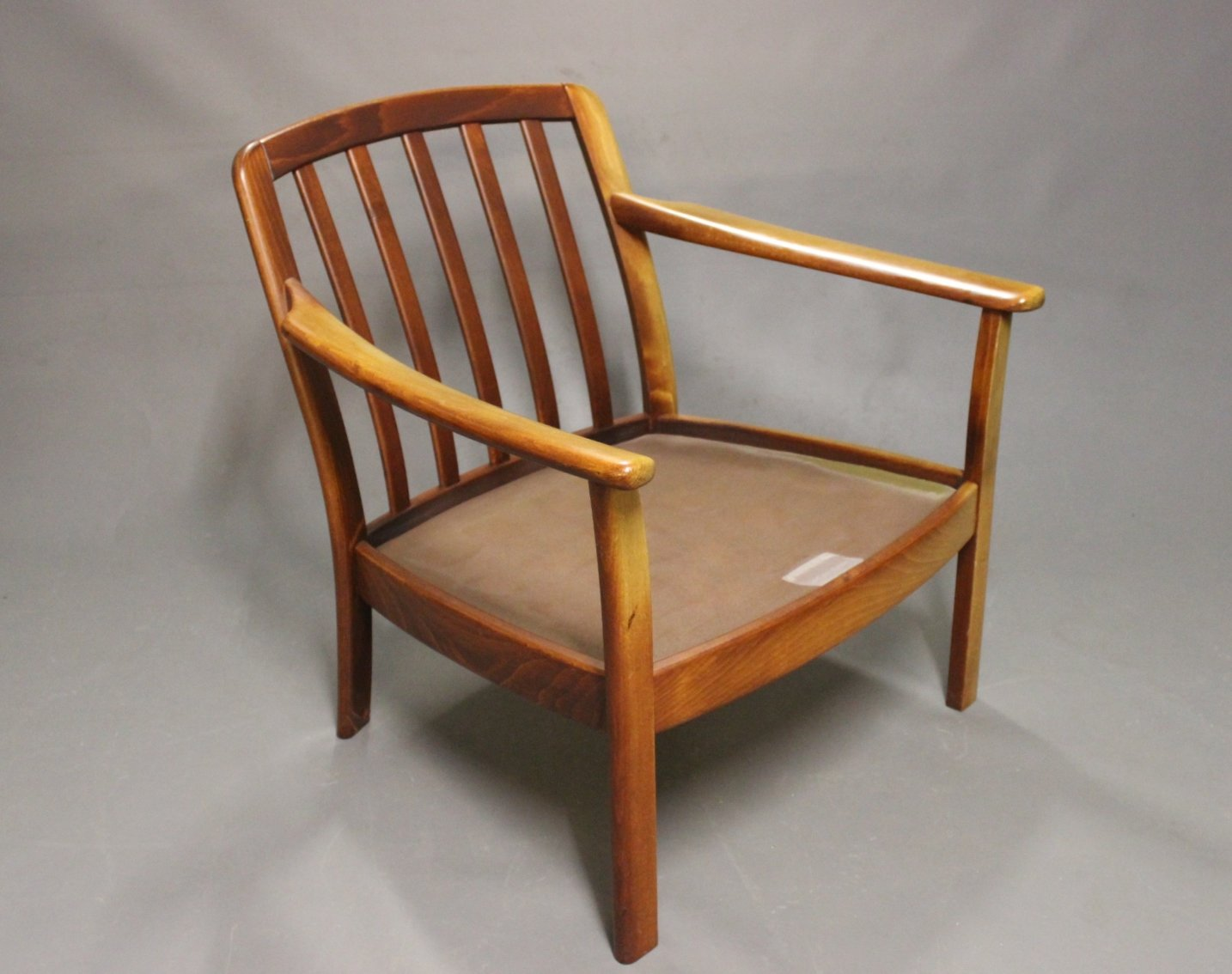 Danish Wooden Easy Chairs 1960s Set of 2 for sale at Pamono