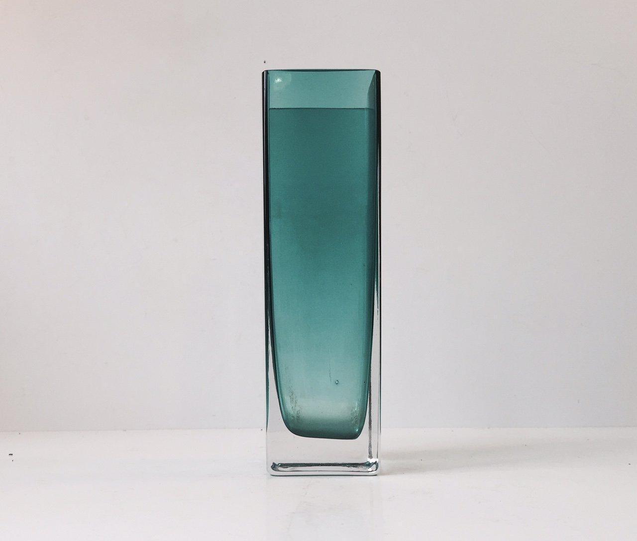 Turquoise rectangular glass vase by gunnar ander for lindshammar turquoise rectangular glass vase by gunnar ander for lindshammar reviewsmspy
