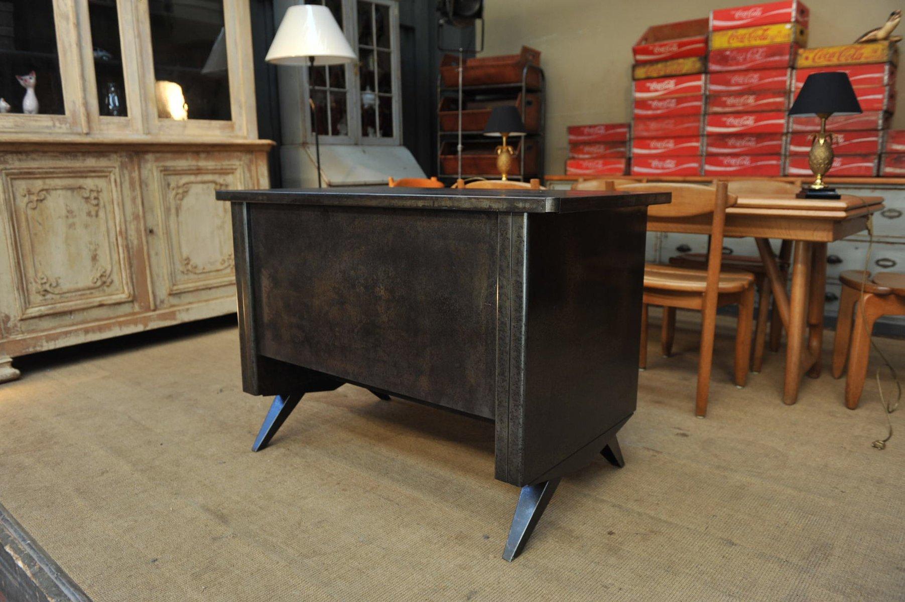 kleiner industrieller metall schreibtisch 1950er bei. Black Bedroom Furniture Sets. Home Design Ideas