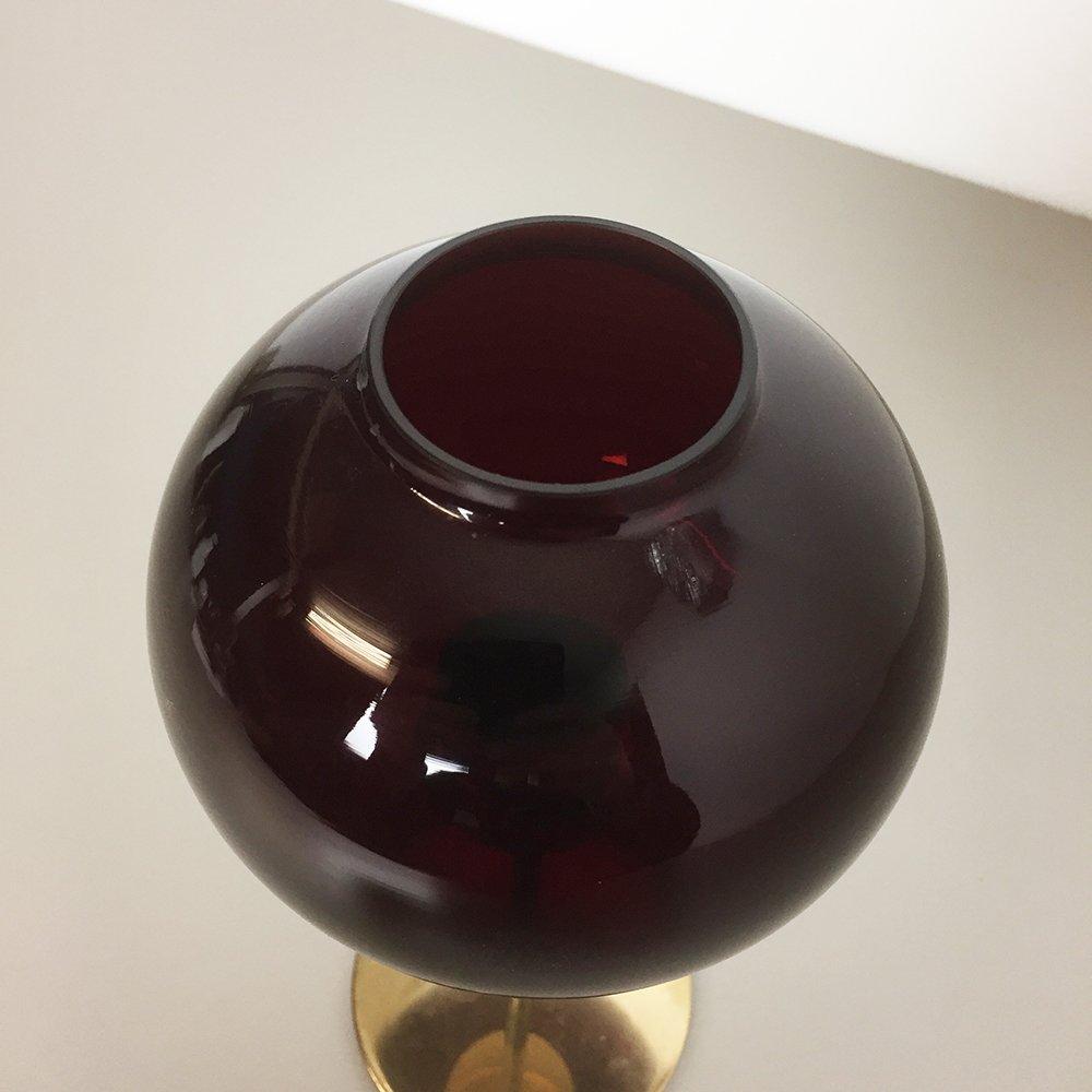 kerzenhalter aus dunkelrotem glas messing von hans agne jakobsson 1960er bei pamono kaufen. Black Bedroom Furniture Sets. Home Design Ideas
