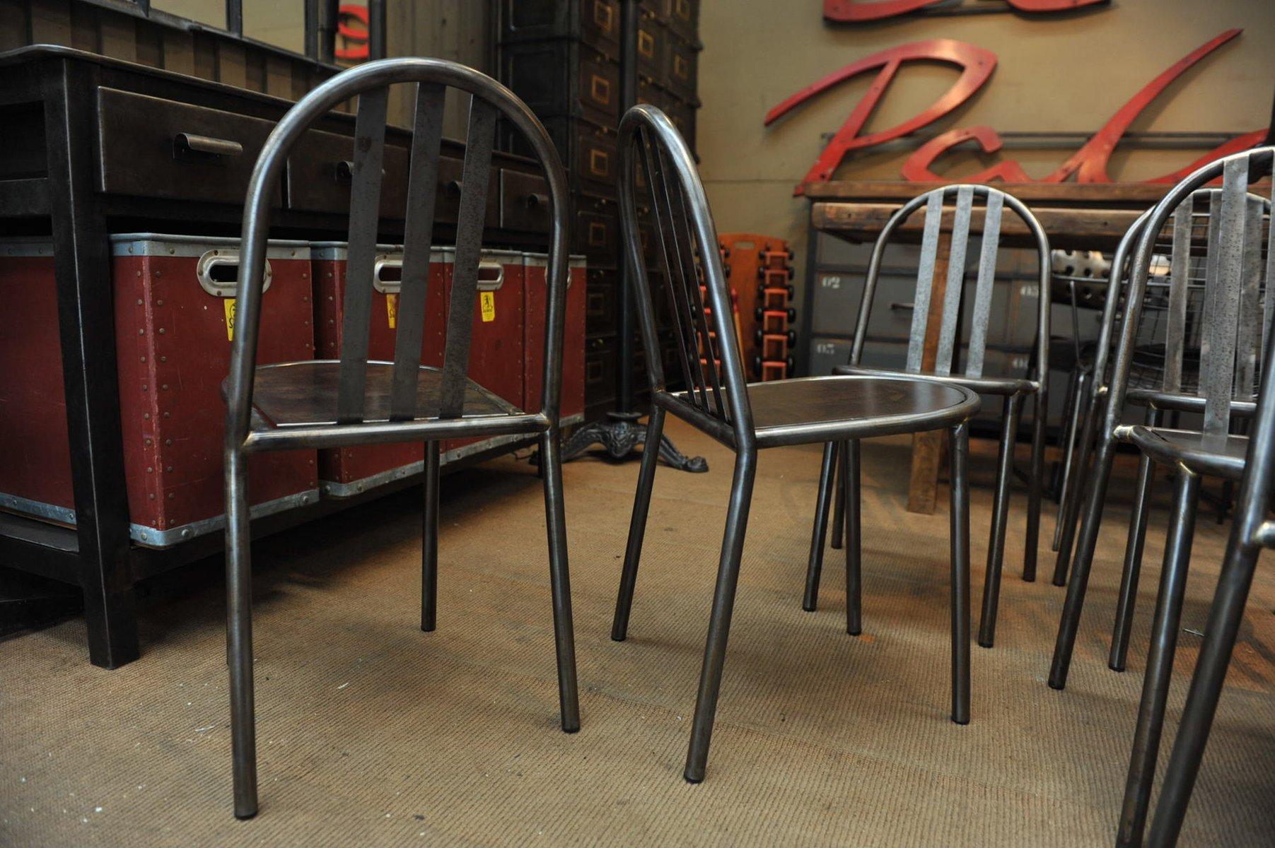 Sedia industriale in metallo di Robert Mallet Stevens anni 50 in vendita su Pamono