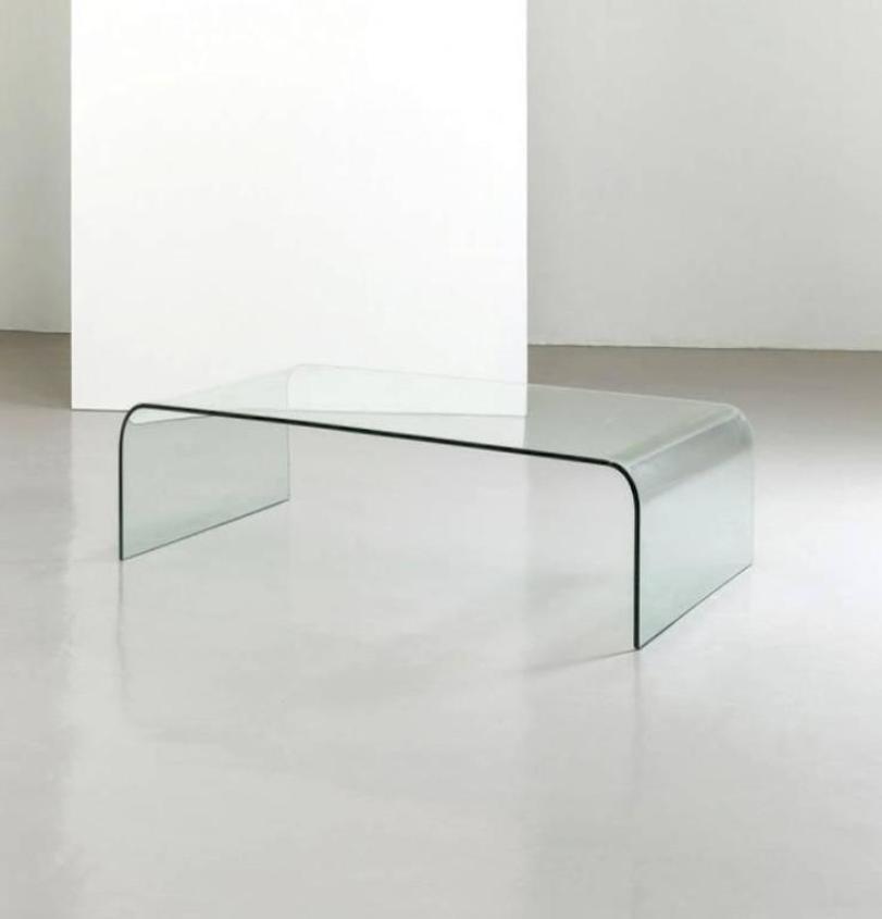 Tavolino da caffè minimalista in cristallo di Fiam, Italia, anni \'80 ...