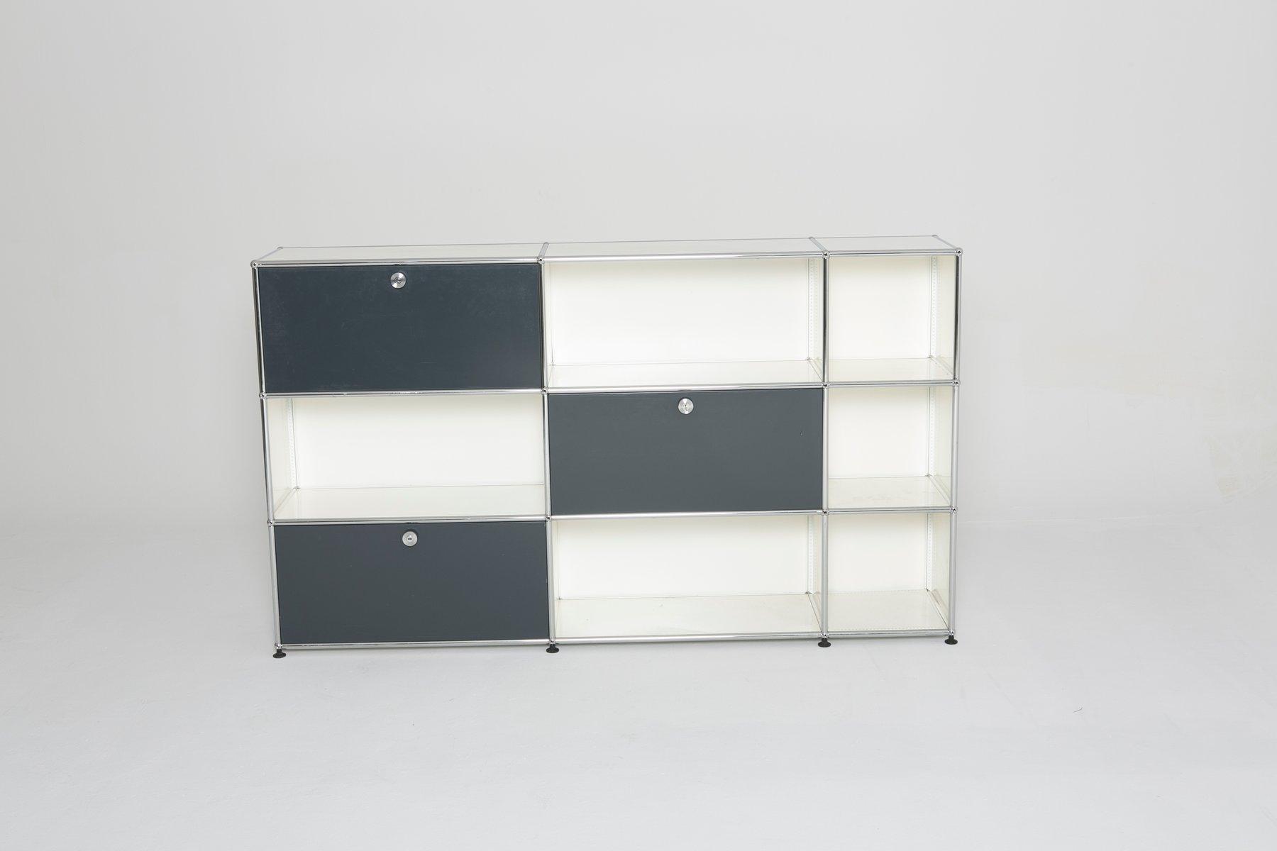 Vintage Schrank in Weiß und Grau von USM Haller bei Pamono kaufen